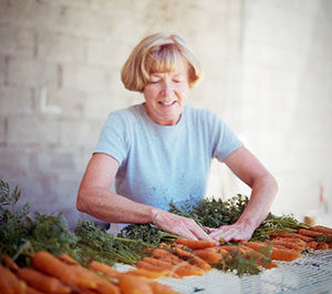 Carrot Cleaning by Sue of Dunbar Farms