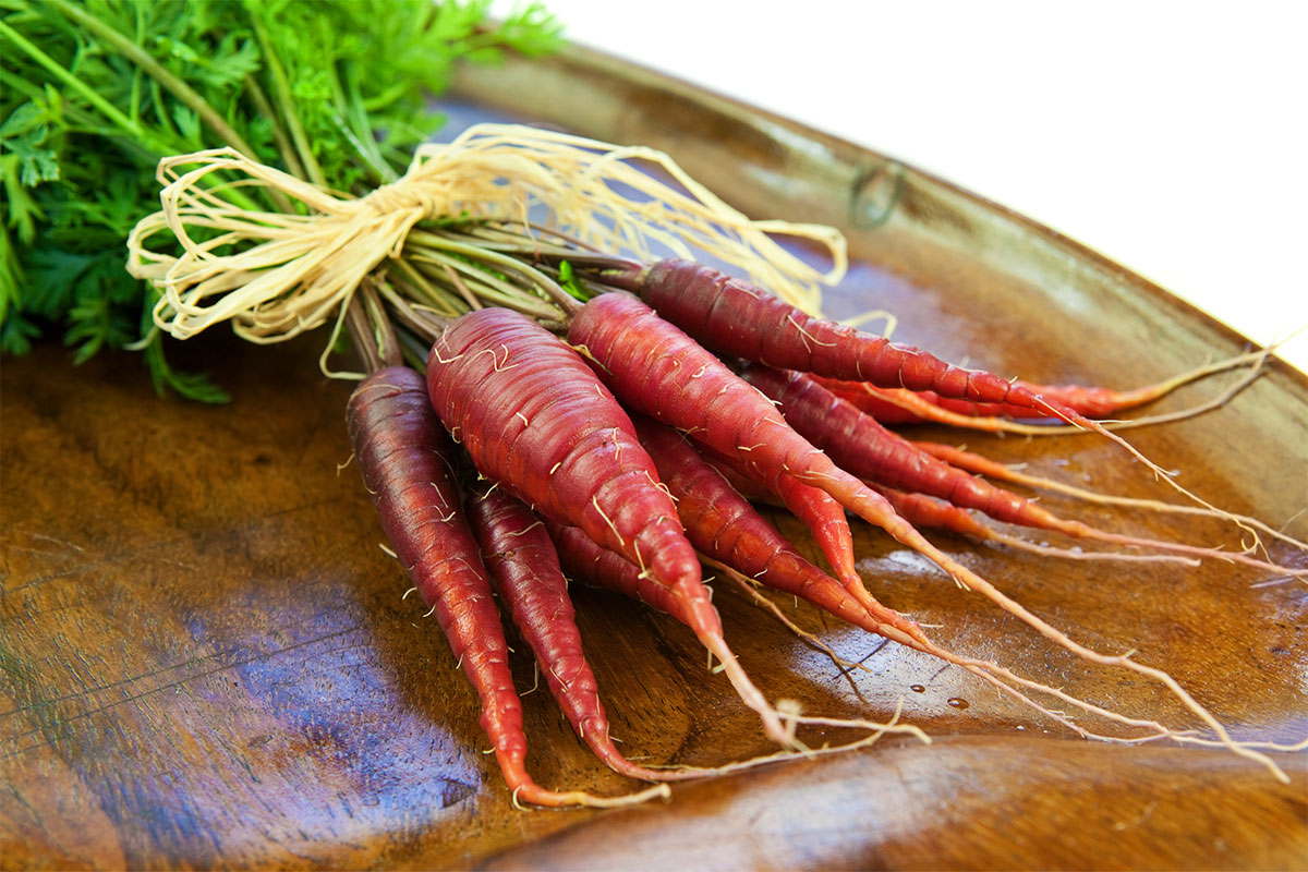 Red Carrots (with Tops)