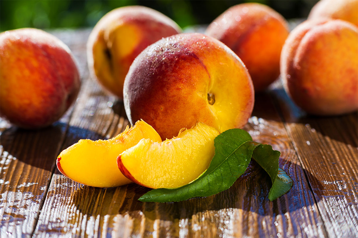 Frozen Red Haven Peaches